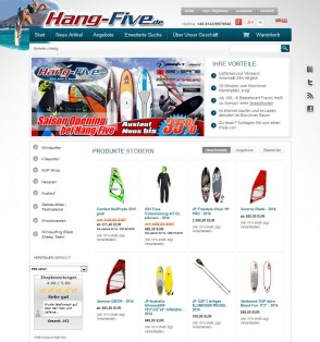 Hang-Five Surf, Kite, SUP und Snowboard Shop