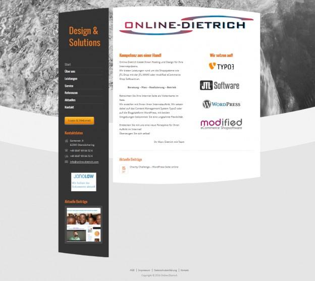 Neuer Internetauftritt Online-Dietrich
