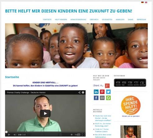 Charity Challenge –  WordPress Seite online