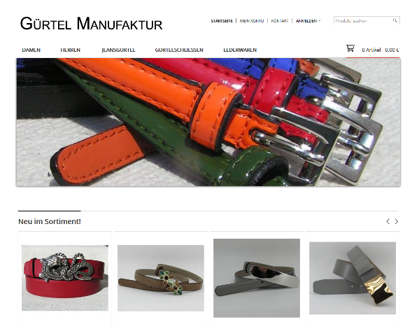 Gürtel-Manufaktur – Der Gürtel Shop aus Deutschland
