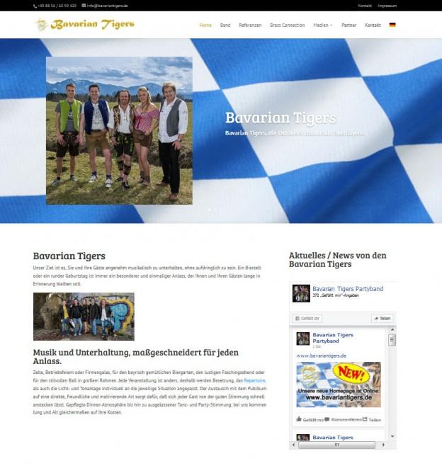 Neuer Webauftritt der Bavarian Tigers ist online!