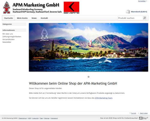 B2B Shop der APM-Marketing GmbH auf JTL-Shop3