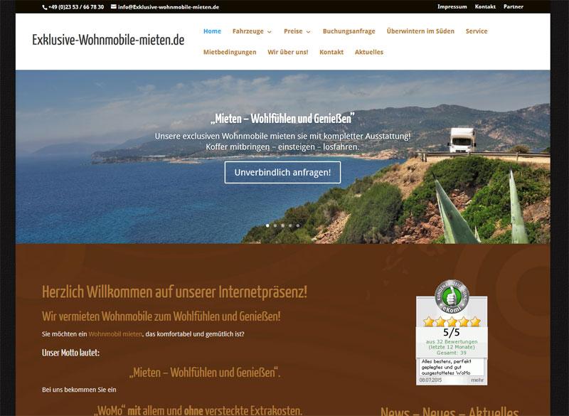 Neue Webseite für Exklusive-Wohnmobile-mieten.de
