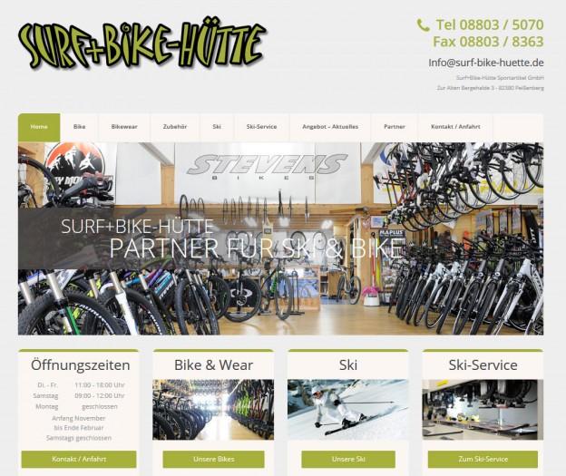 Die Surf & Bike Hütte in Peißenberg hat eine neue Webseite.